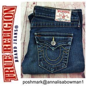 🐞True Religion JOEY Twisted Flare jean size 28